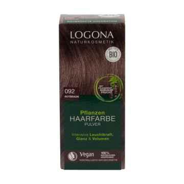 Logona Prášková barva na vlasy červenohnědá, 092 100 g