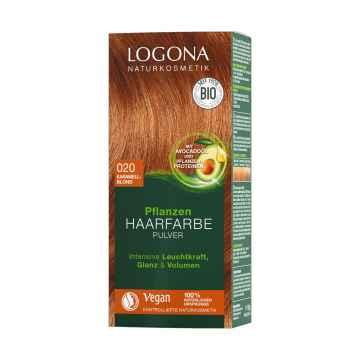 Logona Prášková barva na vlasy karamelová blond, 020 100 g