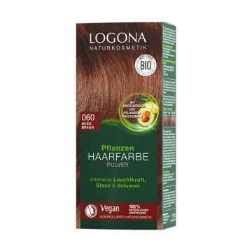 Logona Prášková barva na vlasy oříškově hnědá, 060 100 g