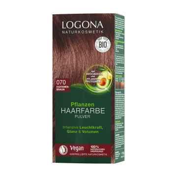 Logona Prášková barva na vlasy kaštanově hnědá, 070 100 g