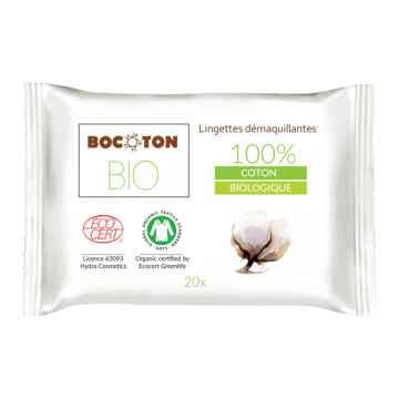 Bocoton Odličovací ubrousky z biobavlny 20 ks