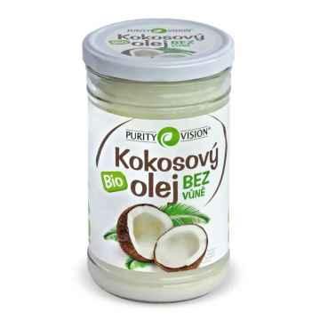 Purity Vision Kokosový olej bez vůně ve skle, bio 900 ml