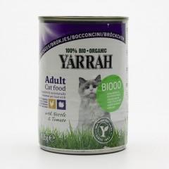 Yarrah Kousky kuřecí a krůtí pro kočky 405 g