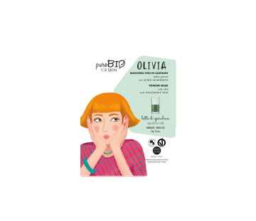 puroBIO cosmetics Slupovací maska Olivia Spirulina milk 12 13 g