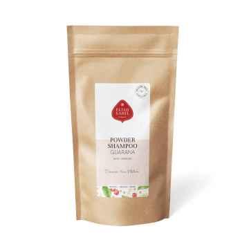 Ájurvédský práškový šampon Citrus-Guarana, Bio 250 g, náplň