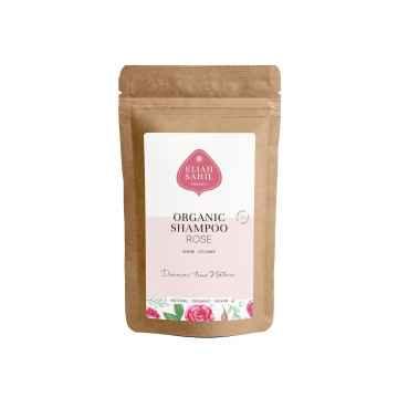 Eliah Sahil Organic Ájurvédský práškový šampon na objem Rose-Protein, Bio 10 g