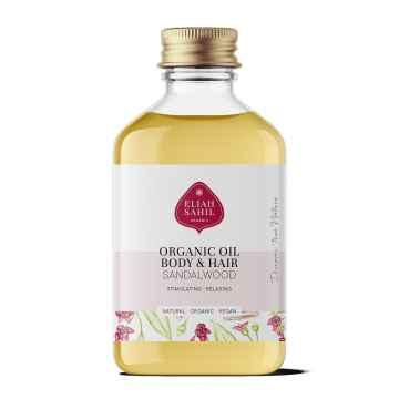 Eliah Sahil Ájurvédský tělový olej Almond-Sandalwood, Bio 100 ml