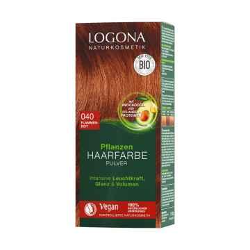 Logona Prášková barva na vlasy ohnivá červená, 040 100 g