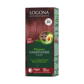 Logona Prášková barva na vlasy mahagonově hnědá, 050 100 g
