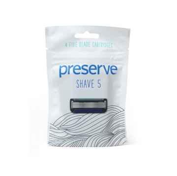 Preserve Náhradní břity pro strojek Shave 5 4 ks