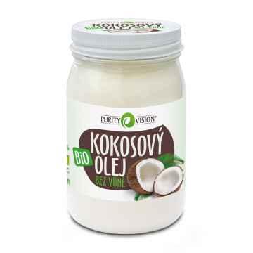 Purity Vision Kokosový olej bez vůně ve skle, bio 420 ml
