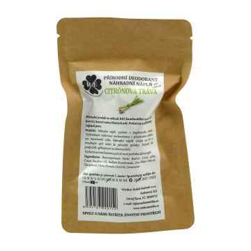RaE Přírodní deodorant s vůní citrónové trávy 22 g náhradní náplň