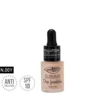 puroBIO cosmetics Tekutý make-up 00Y s SPF 10 19 g