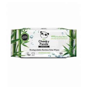 The Cheeky Panda Dětské vlhčené bambusové ubrousky 64 ks