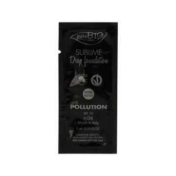 puroBIO cosmetics Tekutý make-up 04 s SPF 10 1 ml
