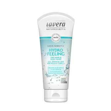Lavera Hydratující osvěžení 2v1, Basis sprchový gel na tělo i vlasy 200 ml