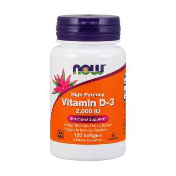 NOW Vitamin D3 120 tobolek