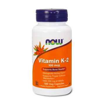 NOW Vitamin K2 100 kapslí