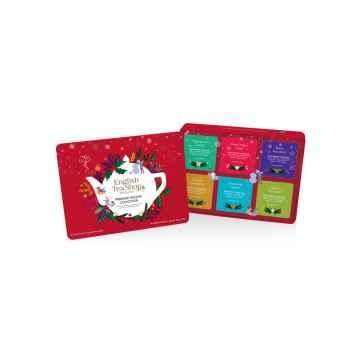 English Tea Shop Vánoční sada Červené Vánoce, plechová krabička, bio 72 g, 36 ks