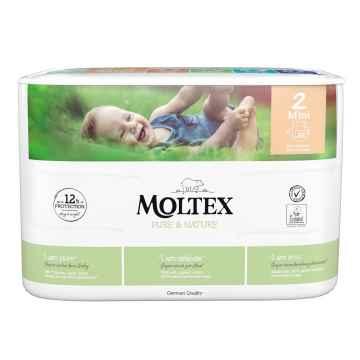 Moltex Dětské plenky Mini 3-6 kg, Pure & Nature 38 ks