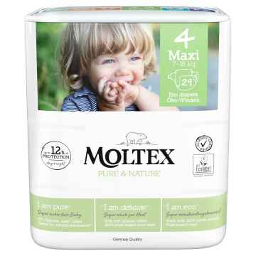 Moltex Dětské plenky Maxi 7-18 kg Pure & Nature 29 ks