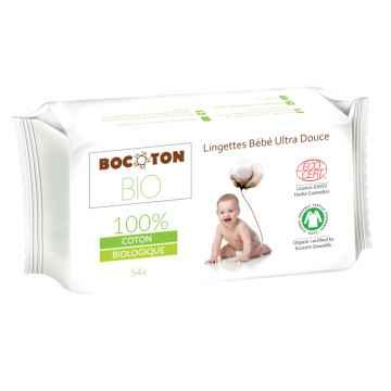 Bocoton Dětské vlhčené ubrousky z biobavlny 54 ks