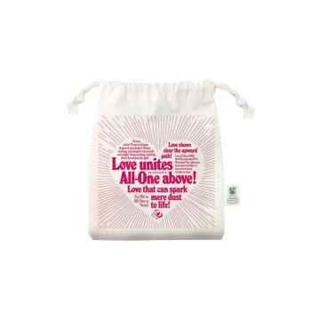 Dr. Bronner's Pytlík z bio bavlny Love 1 ks, růžový