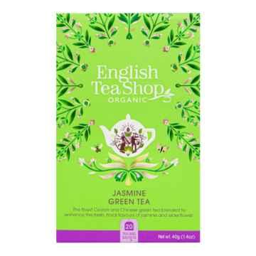 English Tea Shop Zelený čaj s jasmínem, bio 40 g, 20 ks