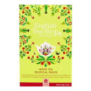 English Tea Shop Bílý čaj s tropickým ovocem, bio 40 g, 20 ks