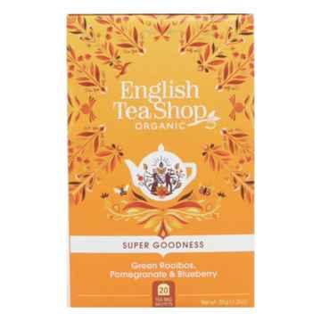 English Tea Shop Zelený rooibos, granát jablko a borůvka, bio 35 g, 20 ks