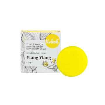 Kvitok Tuhý šampon s rostlinným kondicionérem, Ylang Ylang 25 g
