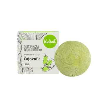 Navia/Kvitok Tuhý šampon s rostliným kondicionérem, Čajovník XXL 50 g
