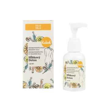 Kvitok Aromaterapeutický masážní olej, Hloubkový detox 50 ml