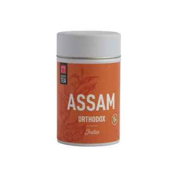Klasek Tea Černý čaj Assam Orthodox Satrupa, kovová dóza, bio 70 g