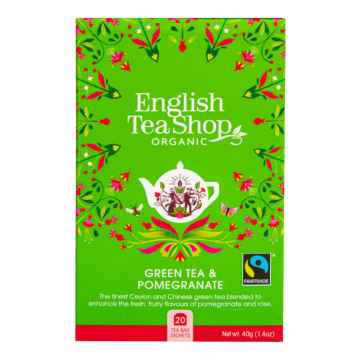 English Tea Shop Zelený čaj granátové jablko, bio 40 g, 20 ks