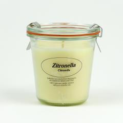 Kerzenfarm Přírodní svíčka Citronella, čiré sklo 8,7 cm