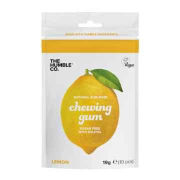 Humble Brush Žvýkačky bez cukru s xylitolem, Lemon 19 g, Lemon