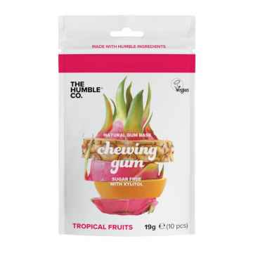 Humble Brush Žvýkačky bez cukru s xylitolem Tropical Fruits 19 g
