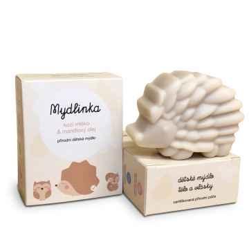 Dětské přírodní mýdlo s kozím mlékem, ježek 90 g
