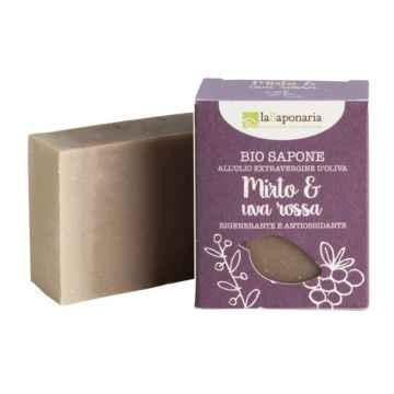 laSaponaria Tuhé olivové mýdlo BIO, Myrta a červené hrozny 100 g