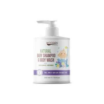 WOODEN SPOON Dětský sprchový gel a šampon na vlasy 2v1 s bylinkami 300 ml