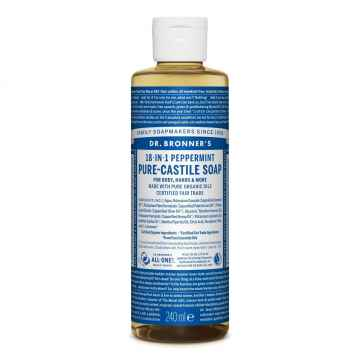 Dr. Bronner´s Tekuté universální mýdlo ALL-ONE!, Peppermint 236 ml