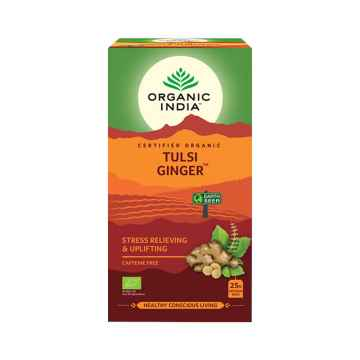 Organic India Čaj Tulsi Ginger, bio 43,5 g, 25 ks
