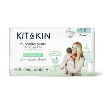 KIT & KIN Naturally Dry nappies Mini (2-6 kg) eko plenky velikost 1 40 ks