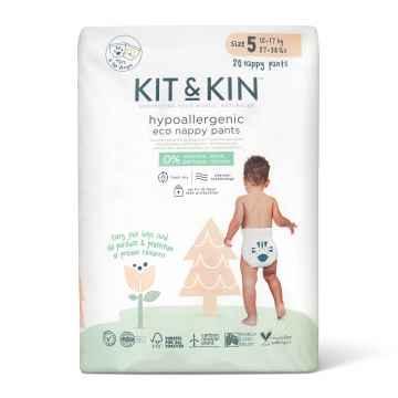 KIT & KIN Naturally Dry Eco plenkové kalhoty vel. 5 (15-18 kg) 20 ks
