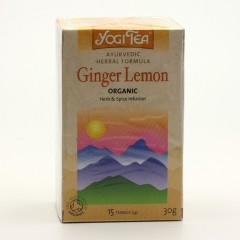 Golden Temple Čaj Yogitea Ginger Lemon 17 ks, 30 g