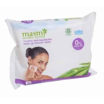 Masmi Vlhčené odličovací ubrousky z organické bavlny 20 ks