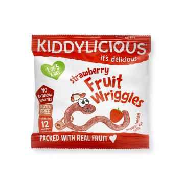 KIDDYLICIOUS Fruit Wriggles žížalky jahodové 12 g