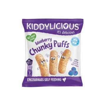KIDDYLICIOUS Fruity Puffs velké křupky borůvkové 12 g