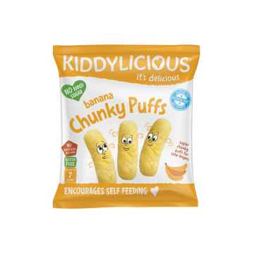 KIDDYLICIOUS Fruity Puffs velké křupky banánové 12 g